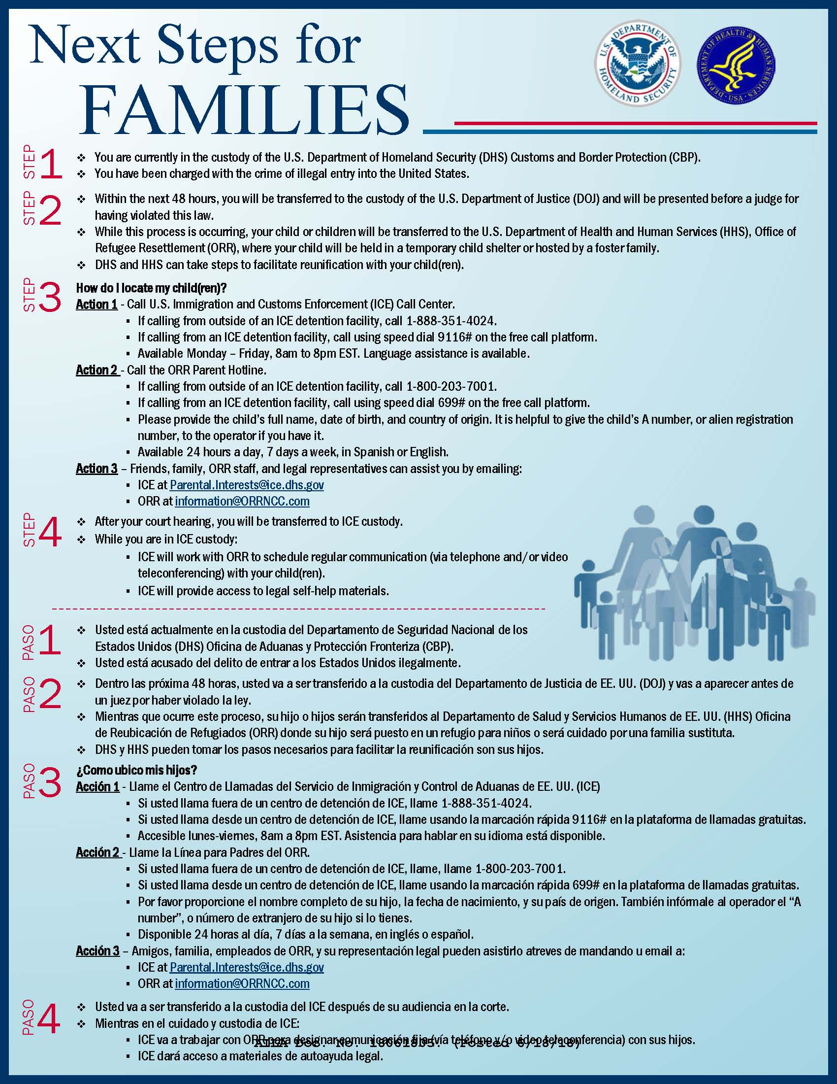 Handout on Next Steps for Families in DHS Custody 2