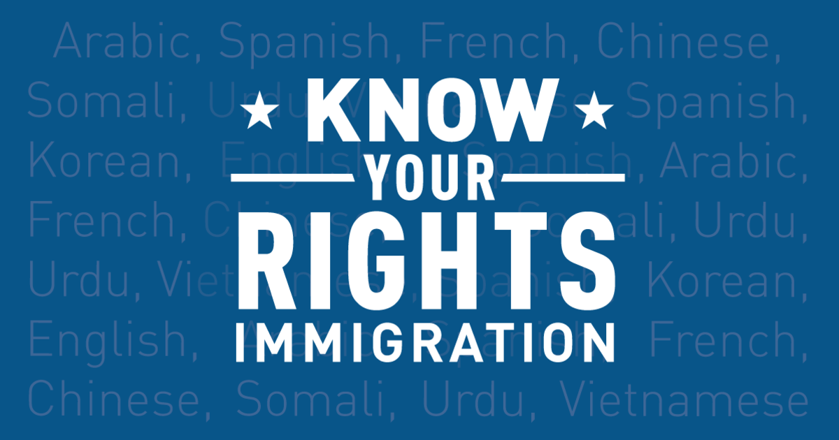 Immigration and Customs Enforcement (ICE) Raids: Know Your Rights